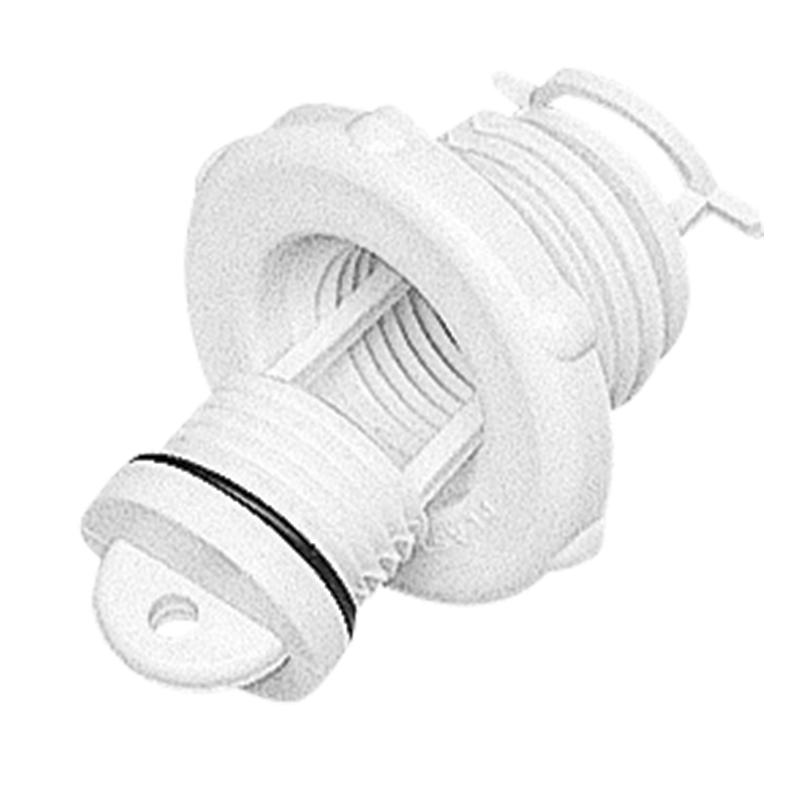 Drain Socket, with Captive Plug, Ø46mm, White – Stuart